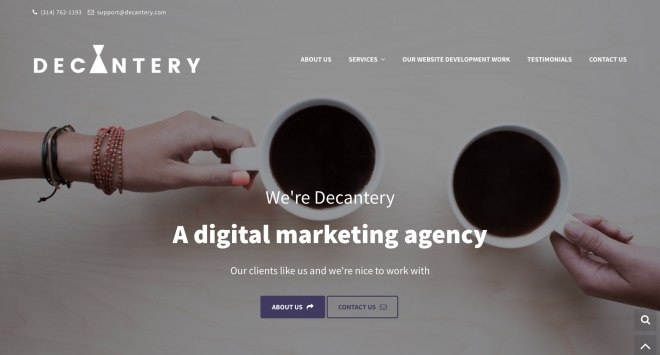 Decantery-website